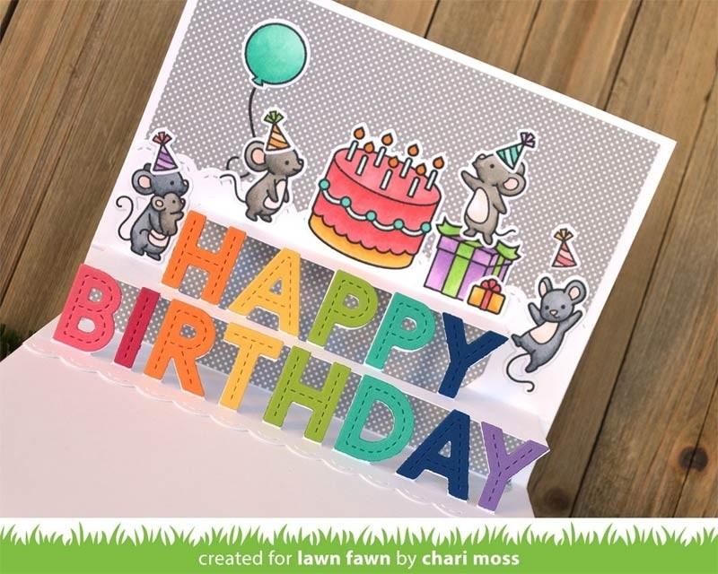 Lawn Fawn Pop-up Happy Birthday LF2264