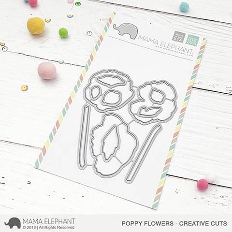 Mama Elephant Poppy Flowers - Creative Cuts