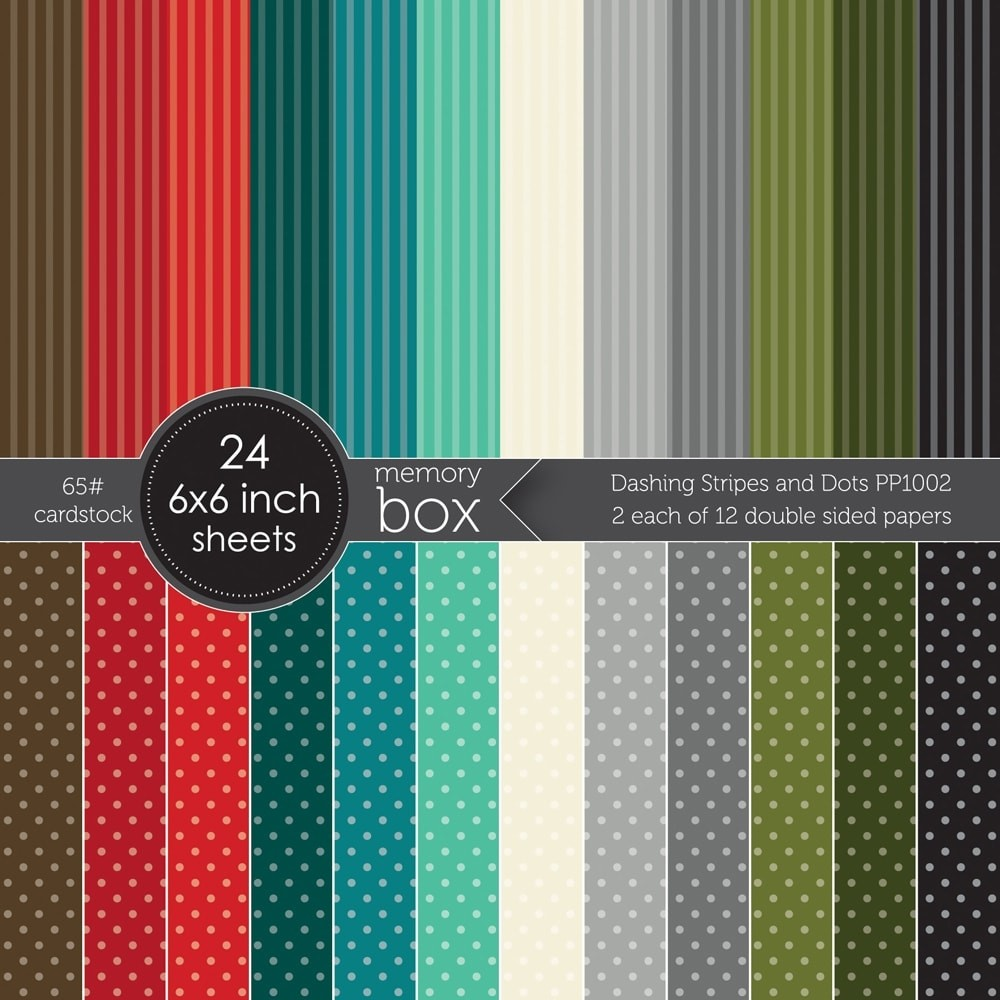 Memory Box Dashing Stripes and Dots 6x6 pack