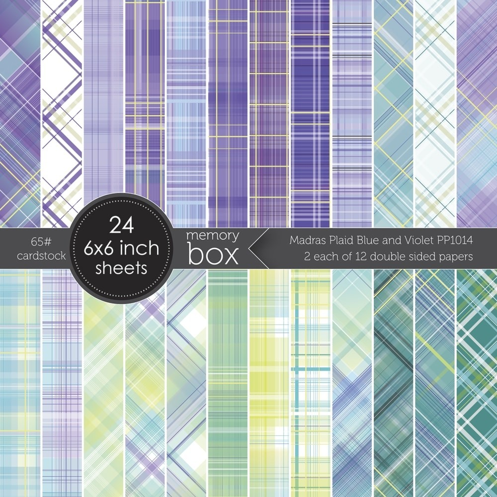 Madras Plaid Blue and Violet 6x6 pack