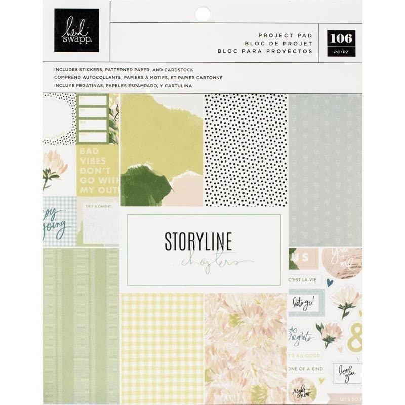 "Heidi Swapp Storyline Chapters Project Pad 7.5""X9.5"" The Planner"