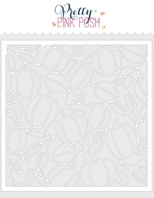 Pretty Pink Posh Pumpkin Background Stencil