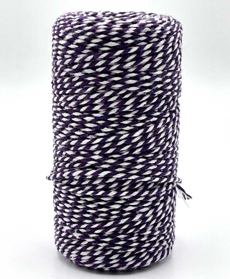Purple and White Chunky Twine