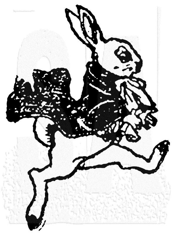 Tim Holtz Rabbit stamp  k2-1540