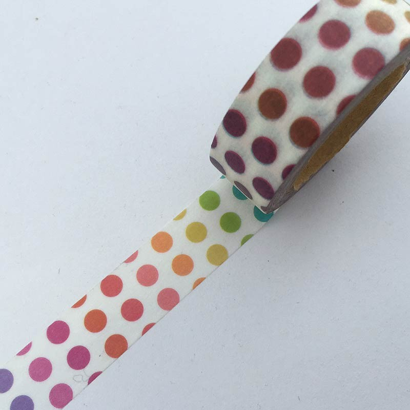 Rainbow Dots Washi Tape