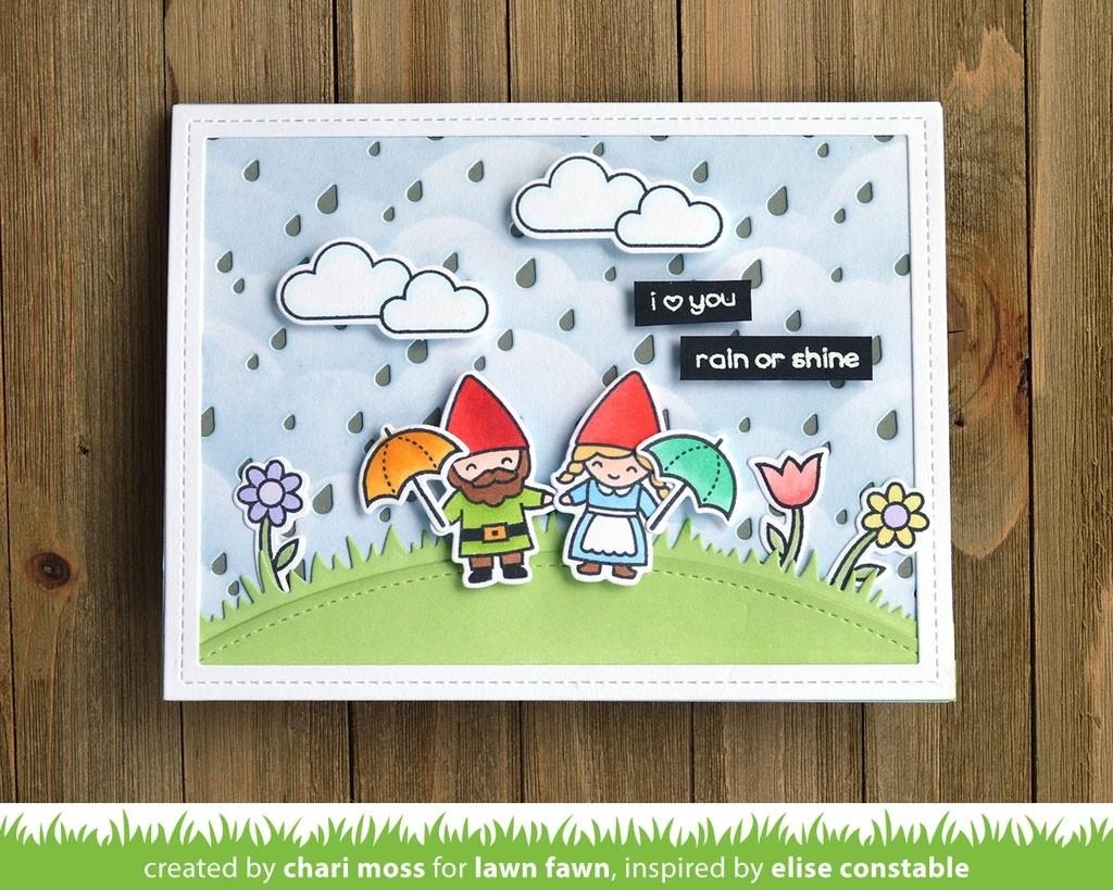 Lawn Fawn  rainy backdrop: landscape lf1925