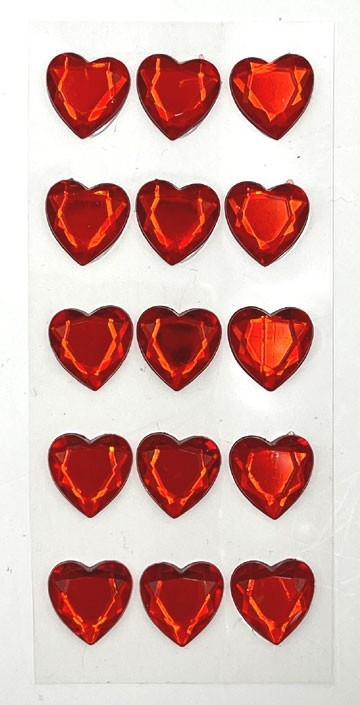 Red Heart Bling Stickers