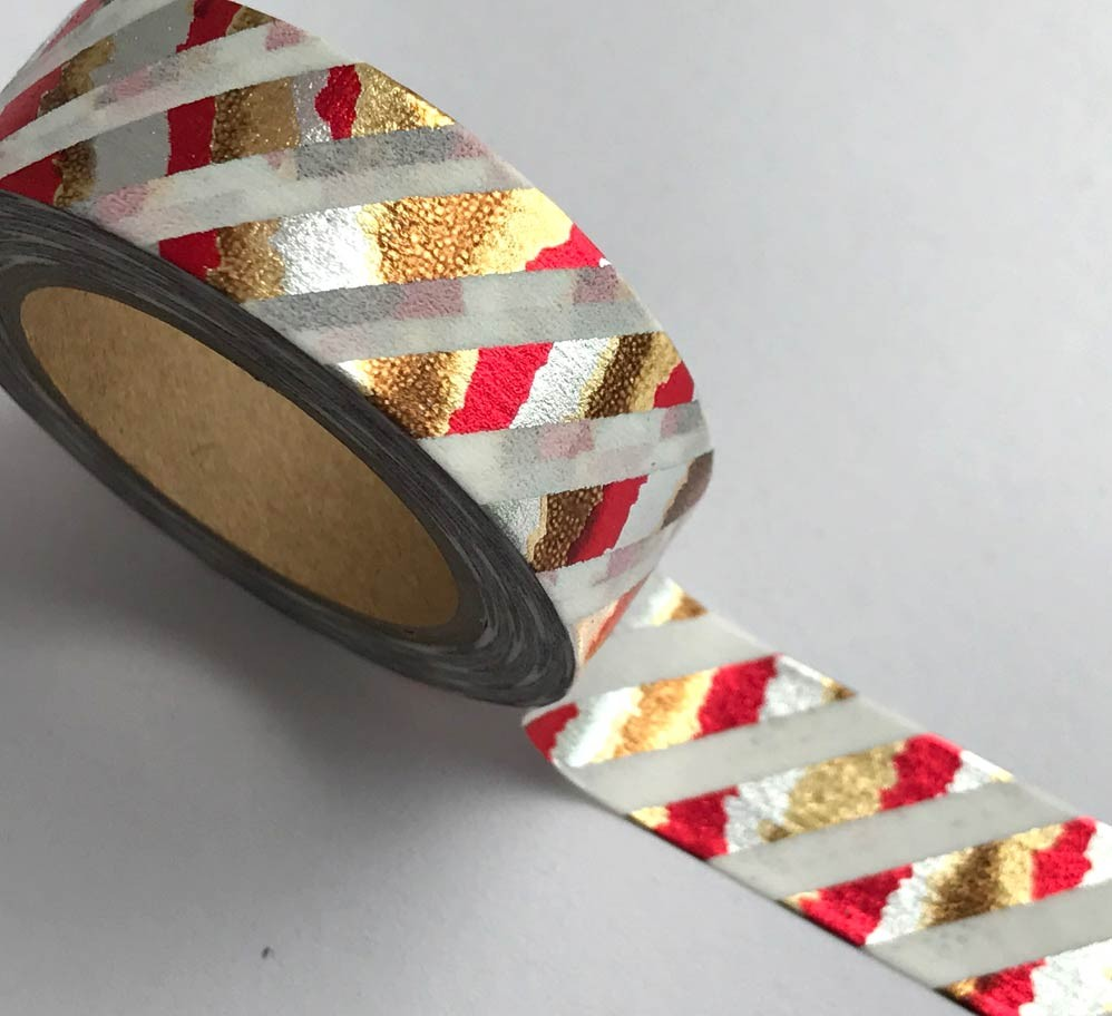 Red, Silver, Copper and Gold Washi Tape