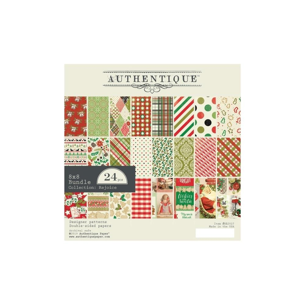 "Authentique Double-Sided Cardstock Pad 8""X8"" - Rejoice"
