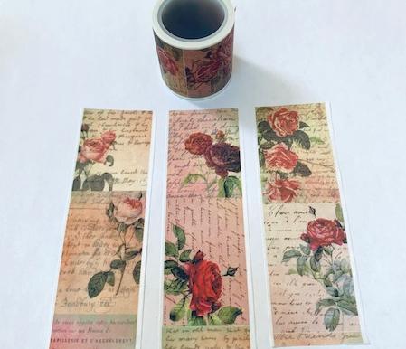 Wide Rose Washi Tape