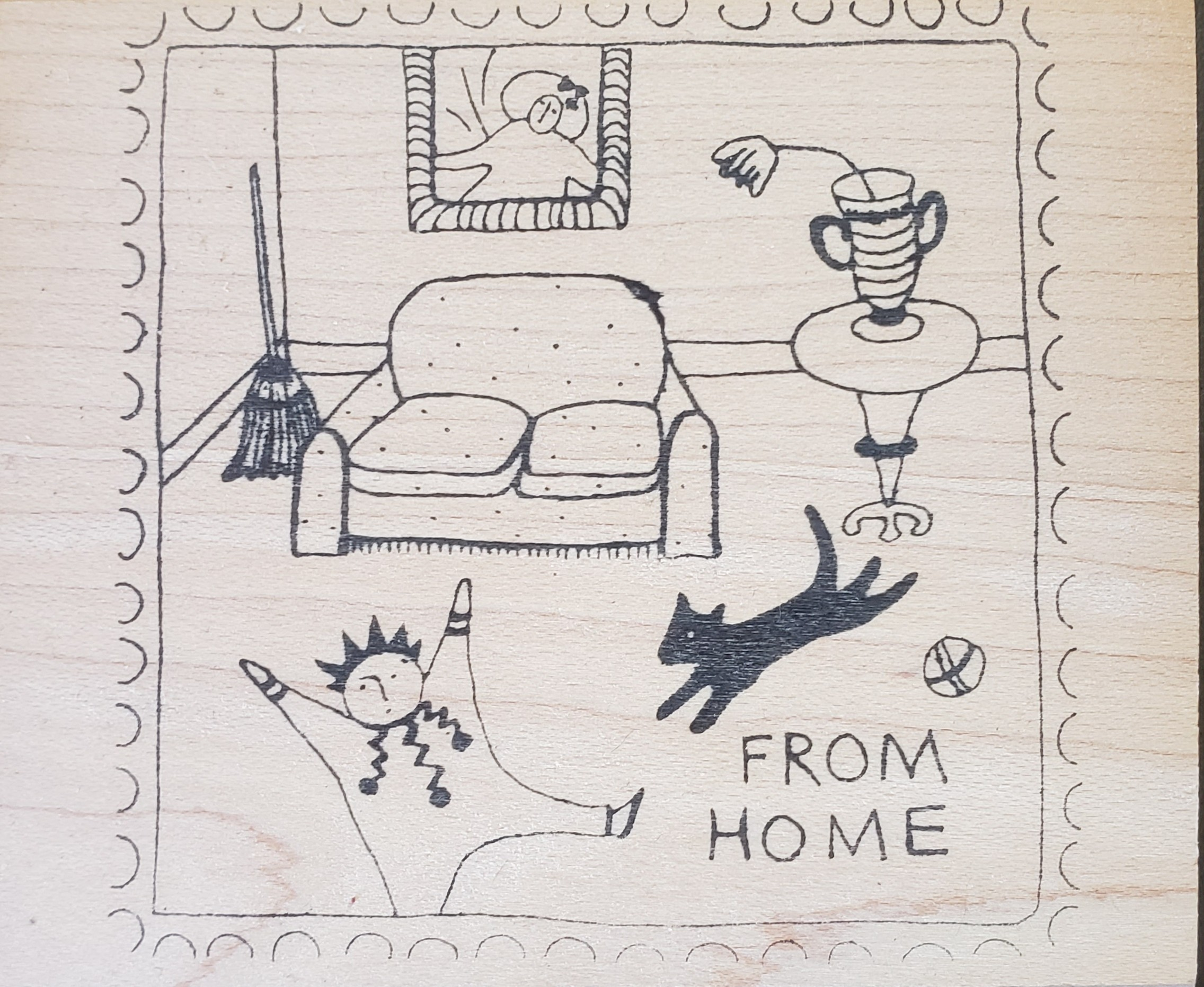 Rubbermoon From Home Stamp