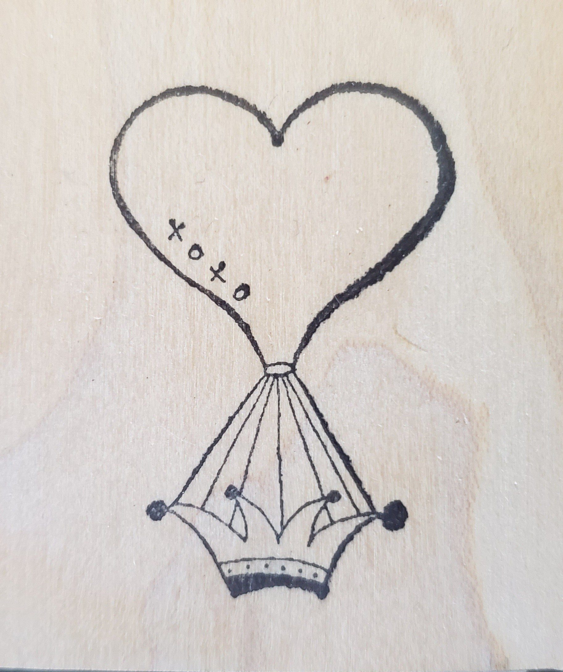 Rubbermoon heart balloon