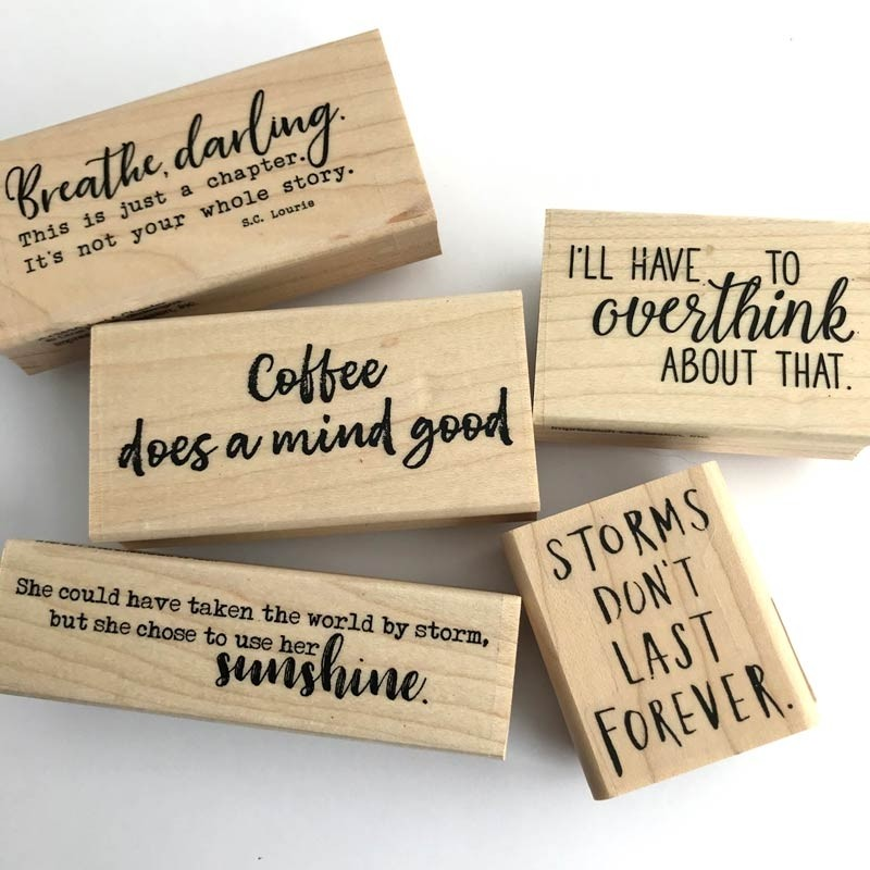 Sentiment Rubber Stamps