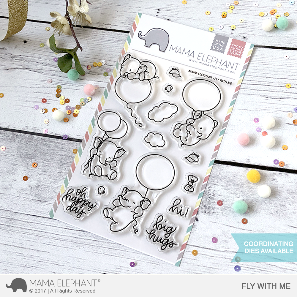 Mama Elephant Fly with Me Clear Stamps
