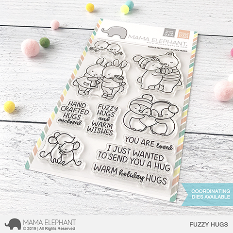 Mama Elephant Fuzzy Hugs Clear Stamp Set