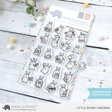Mama Elephant LITTLE BUNNY AGENDA Clear Stamps