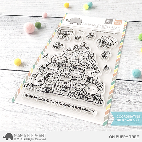 Mama Elephant Oh Puppy Tree clear stamps