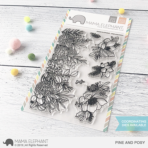 Mama Elephant Pine and Posy Clear Set