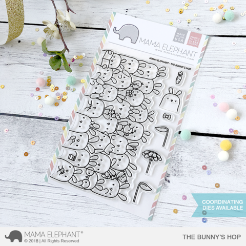 Mama Elephant THE BUNNY'S HOP clear stamps
