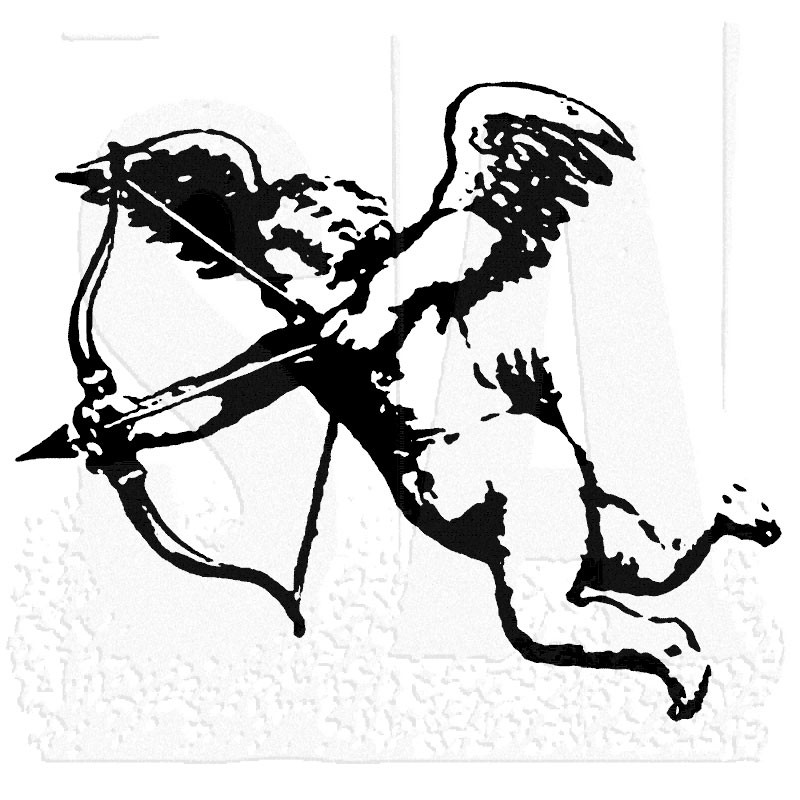 Tim Holtz Cupid Rubber Stamp m21533