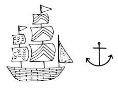5582d - sailboat combo rubber stamp