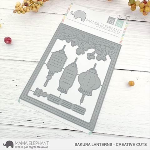 Mama Elephant Sakura Lanterns Creative Cuts