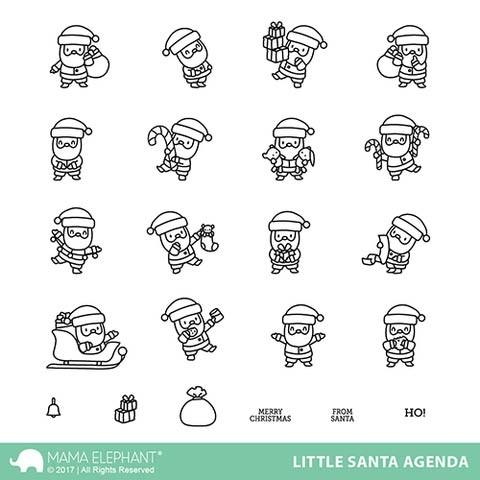 Mama Elephant Little Santa Agenda