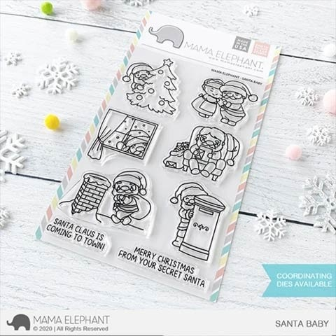 Mama Elephant Santa Baby Clear Stamps