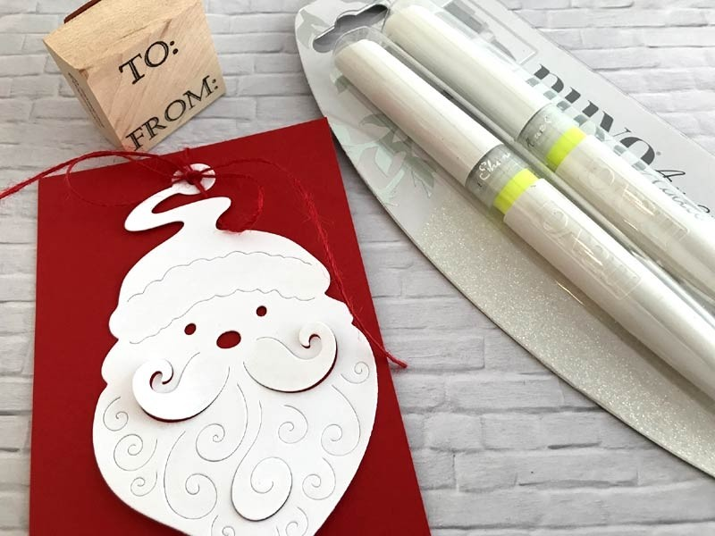 Hero Arts Paper Layering Santa Tag Die