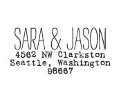 Sara & Jason Custom Stamp