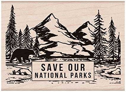 Hero Arts Save Our National Parks Rubber Stamp