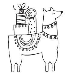 Savvy Stamps Llama Holiday 1625f