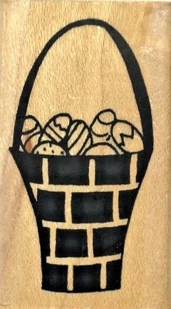 Savvy Stamps Solid Basket of Eggs 809c