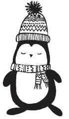 Savvy Stamps winter penguin rubber stamp 1630f
