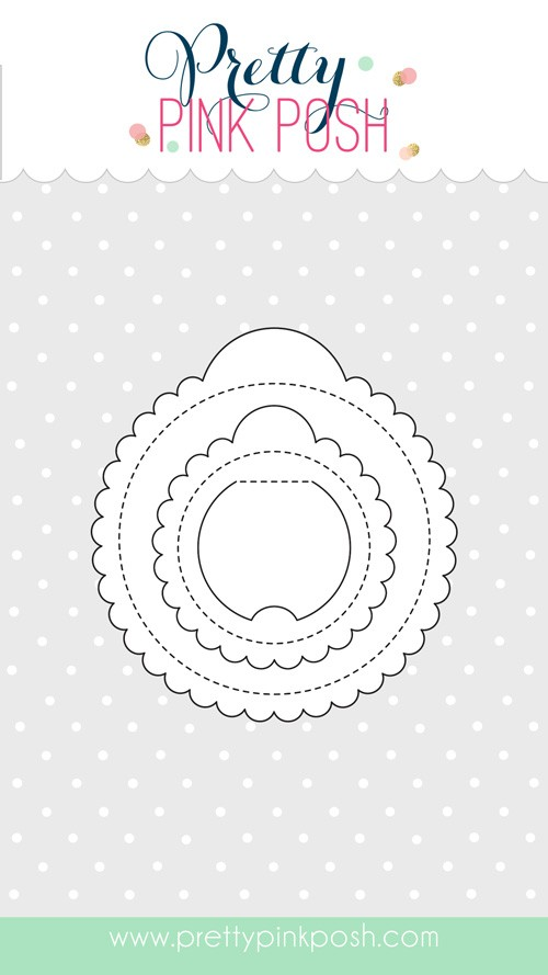 Pretty Pink Scallop Circle Tags Die