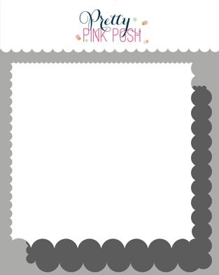 Pretty Pink Posh Scallop Edges Stencils (2 pack)