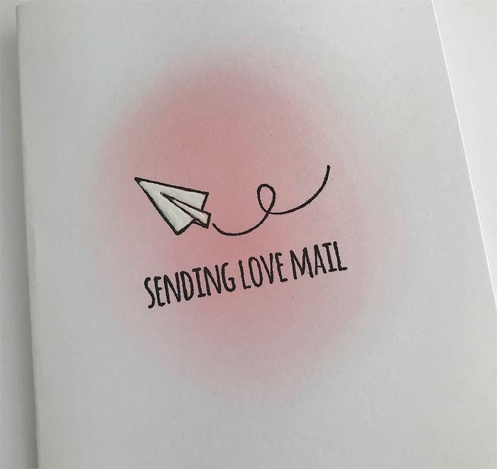 Sending Love Mail Rubber Stamp 5765d