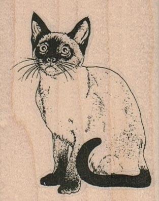 Siamese cat rubberstamp