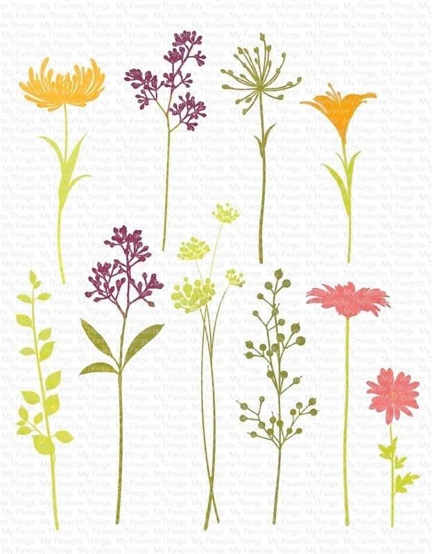My Favorite Things Flower Silhouettes CS384 and dies.