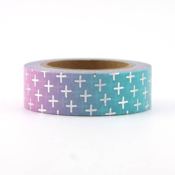 Silver Cross Washi Tape