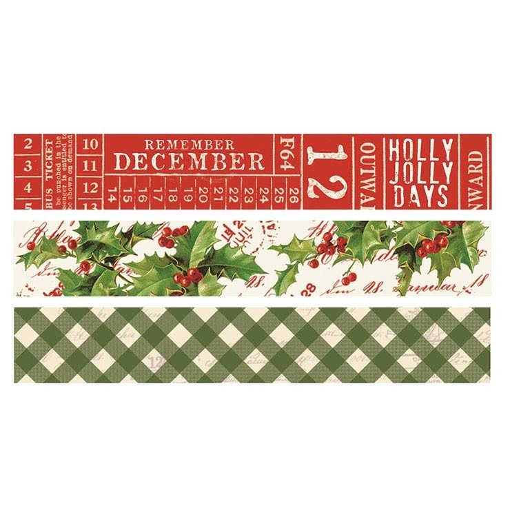 Simple Vintage Christmas Washi Tape