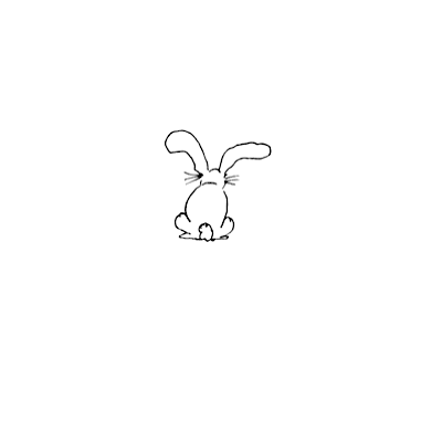 Rosie's Roadshow Sitting Bunny Rubber Stamp