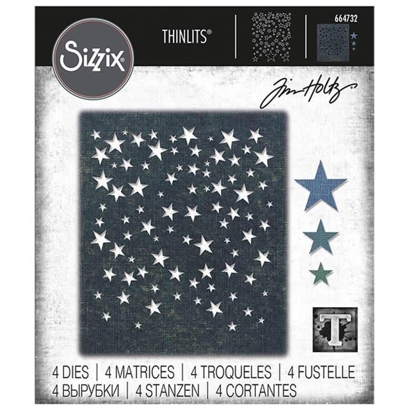 Sizzix Thinlits Dies By Tim Holtz Falling Stars