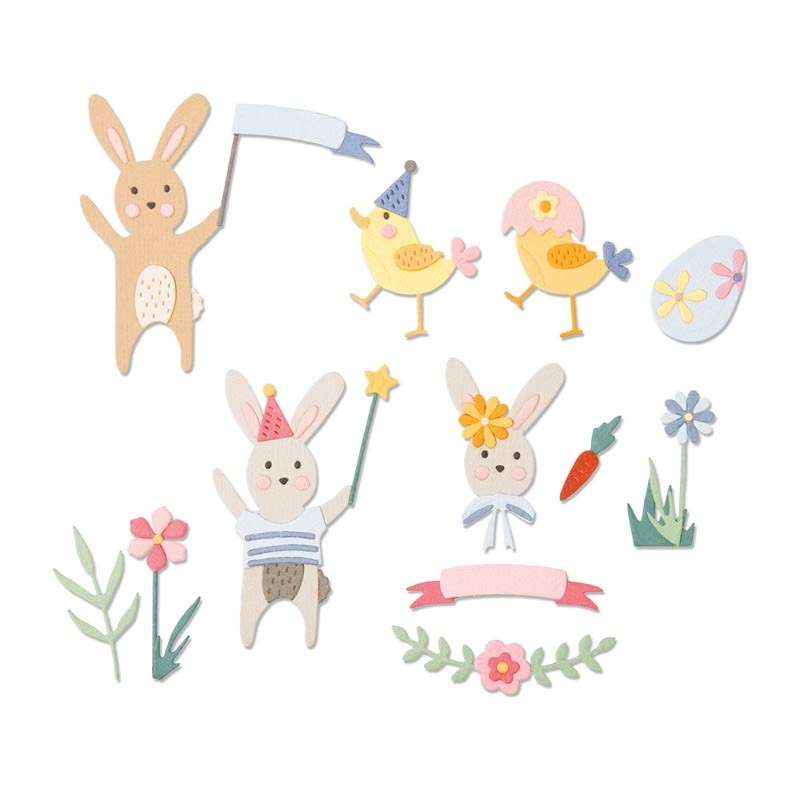 Sizzix Thinlits 23PK - Easter Celebration