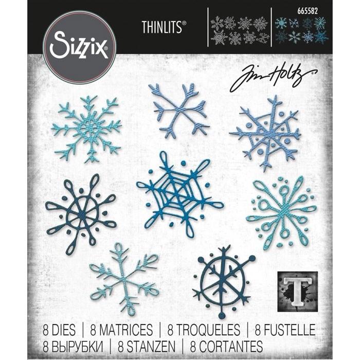 Sizzix Tim Holtz Scribbly Snowflakes 665582