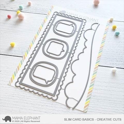 Mama Elephant Slim Card Basics - Creative Cuts