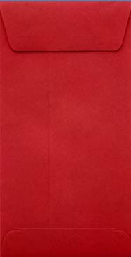 Red Slim Envelopes