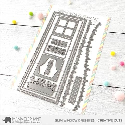 Mama Elephant Slim Window Dressing - Creative Cuts