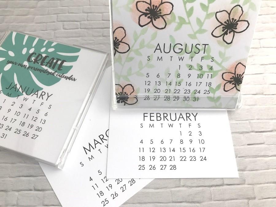 Small Impress 2018 DIY calendar