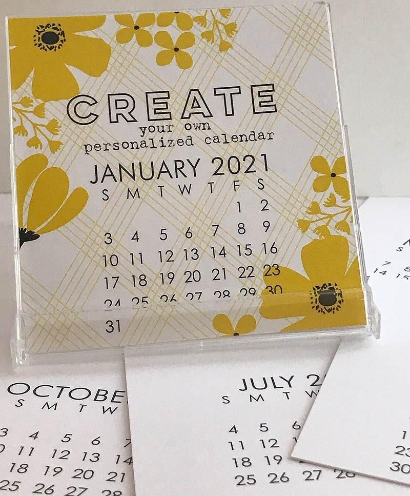 Impress' Small 2021 DIY Calendar